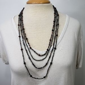 Multiple Strand Bead Necklace